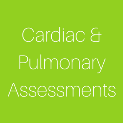 Cardiac Pulmonary Assessments 1